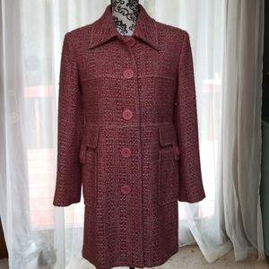[Harve Benard] vintage inspired pink coat